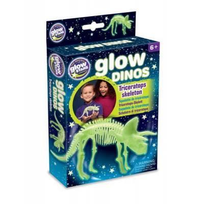 GlowStars Glow Dinos 3D kostra Triceratops