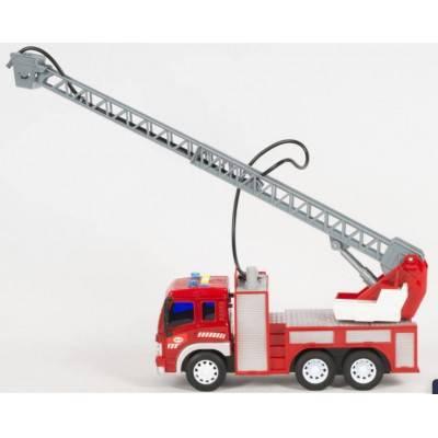 Hasičské auto se žebříkem City Service, zvuky a světlo