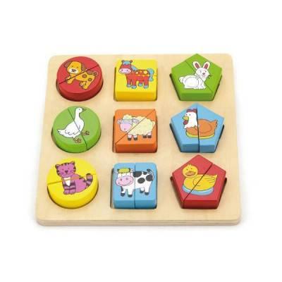 VIGA Dřevěné puzzle - zvířátka