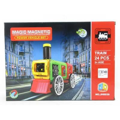Magnetická stavebnice Magic Magnetic 24ks LOKO