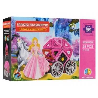 Magnetická stavebnice Magic Magnetic 29ks KOČÁR