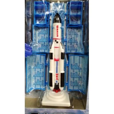 Model rakety na startovací rampě Model-A