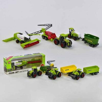 Zemědělské stroje Farm Set - mini model kov/plast 1ks
