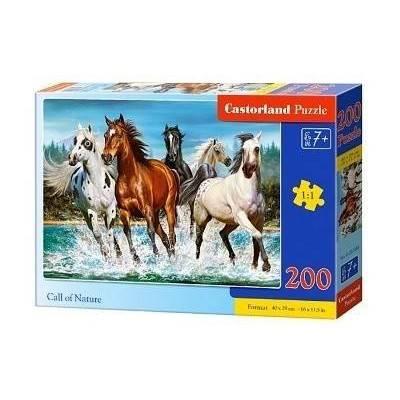 Puzzle 200 dílků - Běžící koně 222056