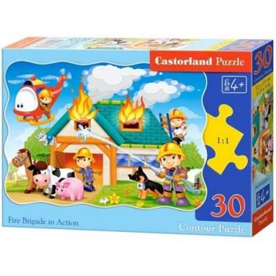 Puzzle 30 dílků - Hasiči v akci 3525