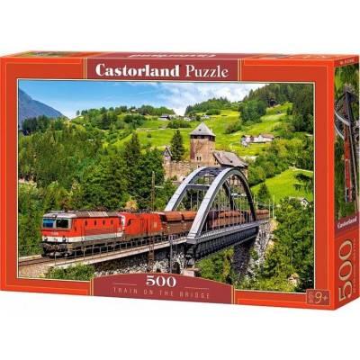 Puzzle 500 dílků - Vlak na mostě 52462