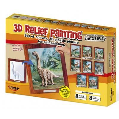 3D reliéfní obrázky - 8 různých dinosaurů
