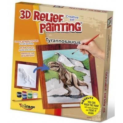 3D reliéfní obrázek 19x21cm Tyrannosaurus 66001