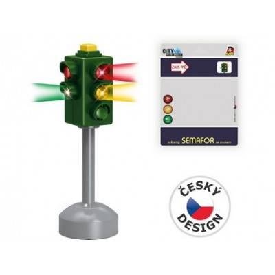 MaDe Světelný semafor 16cm