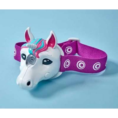 Brainstorm Toys LED svítilna na hlavu UNICORN se zvukem